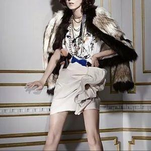 Lanvin for H&M Ruffle Cream Mini Skirt